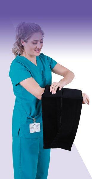 Nurse Molding an SMI Wrap on her forearm