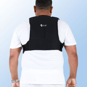 Patient Wearing a SMI Thoracic Wrap